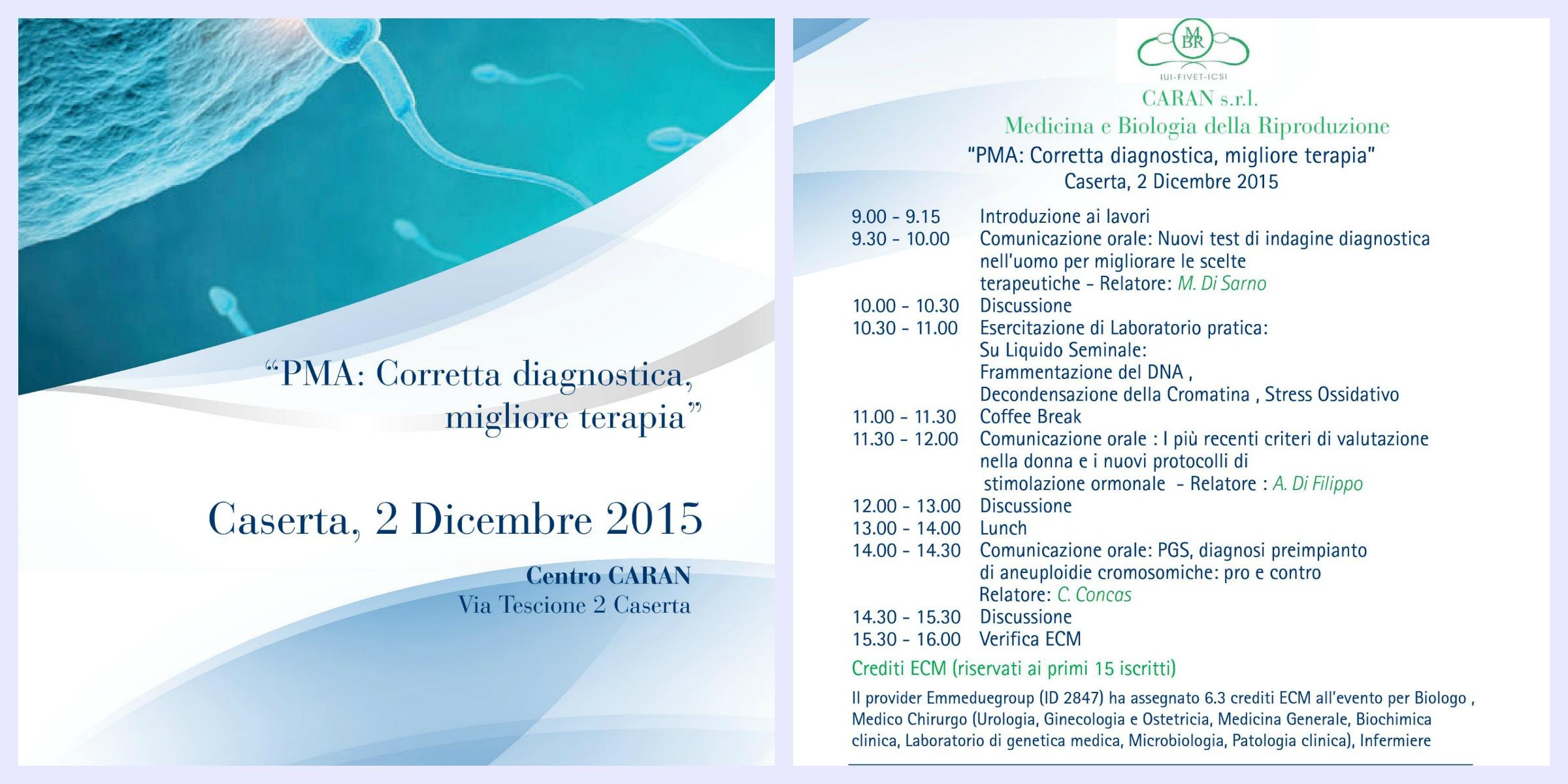 Corretta diagnosi-migliore terapia, Caserta 02 dicembre 2015